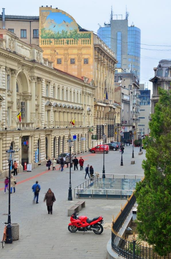 Cidade velha de Bucareste imagens de stock