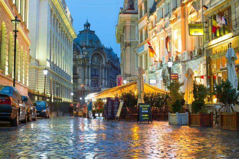 Cidade velha de Bucareste, Romênia foto de stock royalty free