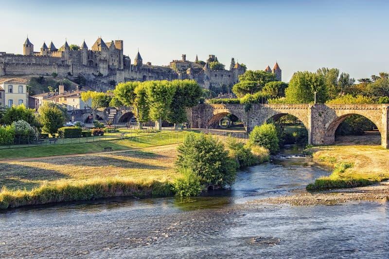 Cidade velha de Carcassonne imagem de stock royalty free