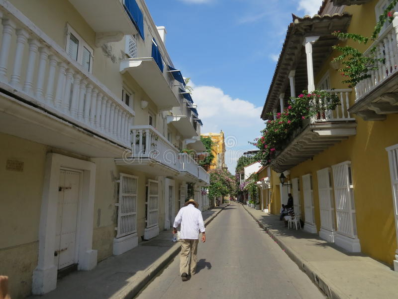 Cidade velha de Cartagena de Índia imagem de stock royalty free