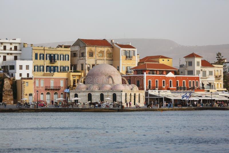 Cidade velha de Chania, Grécia imagens de stock royalty free
