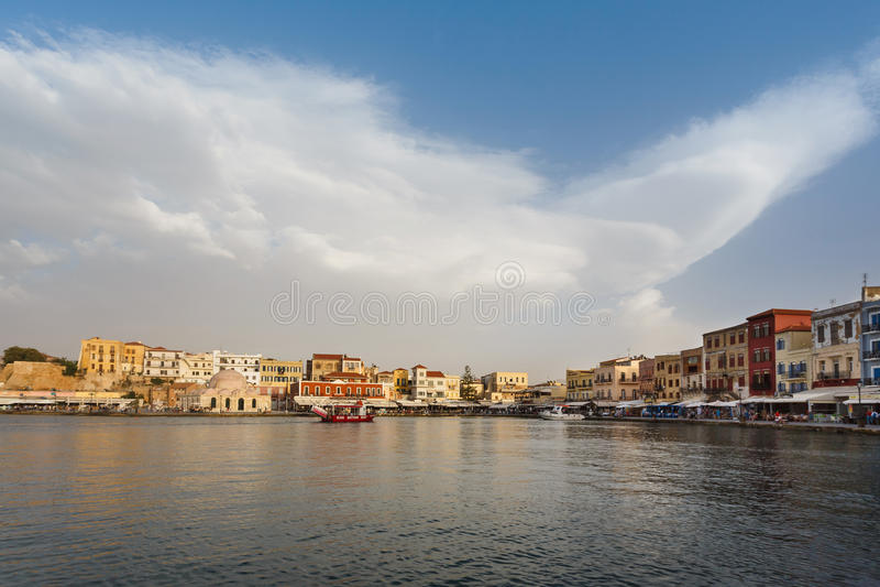 Cidade velha de Chania, Grécia fotografia de stock royalty free