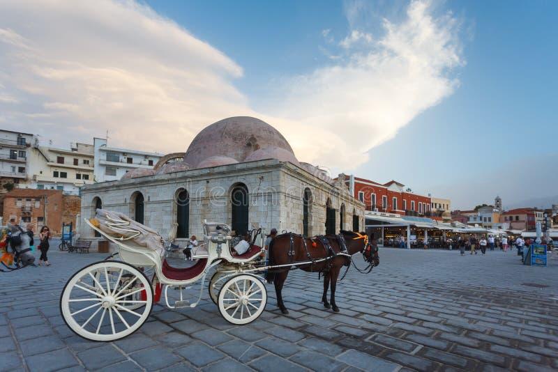 Cidade velha de Chania, Grécia imagens de stock