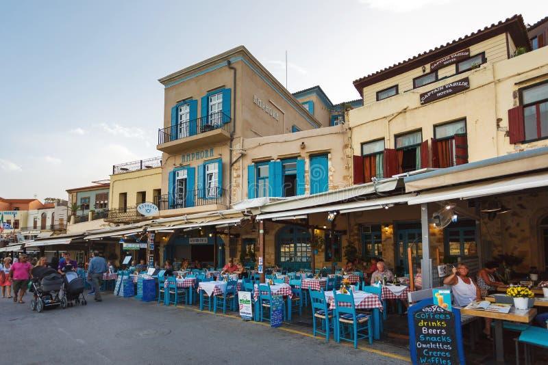 Cidade velha de Chania, Grécia fotos de stock royalty free
