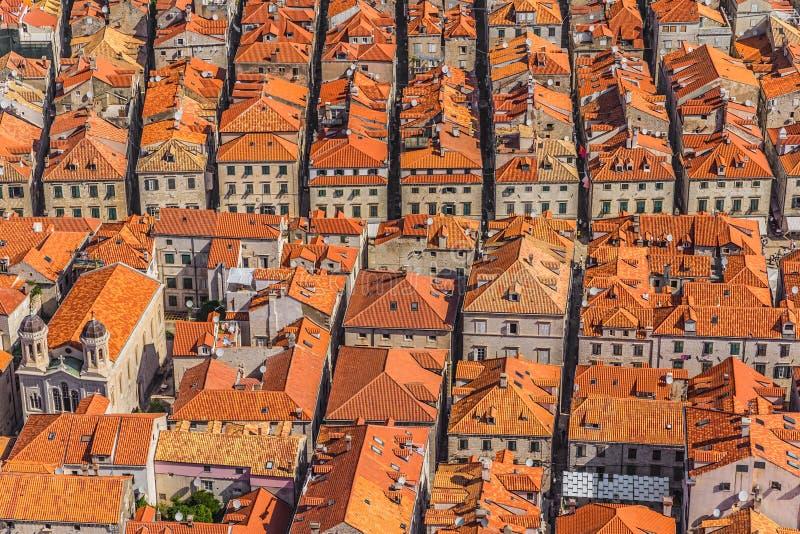 Cidade velha de Dubrovnik foto de stock