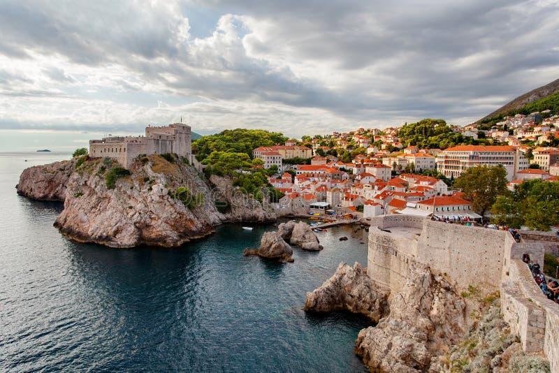 A cidade velha de Dubrovnik foto de stock