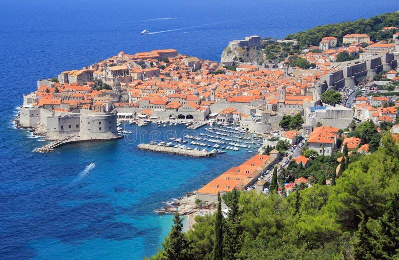 Cidade velha de Dubrovnik, Croatia foto de stock