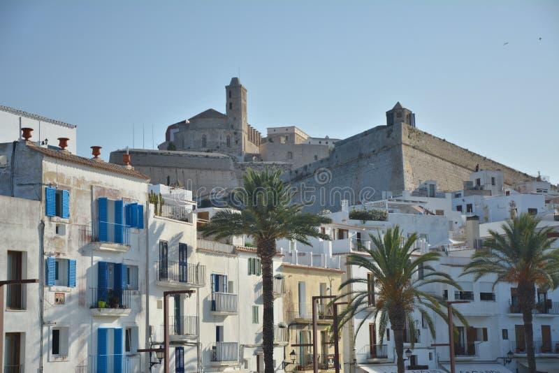 Cidade velha de Eivissa em Ibiza fotos de stock