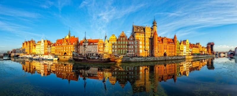 A cidade velha de Gdansk imagens de stock