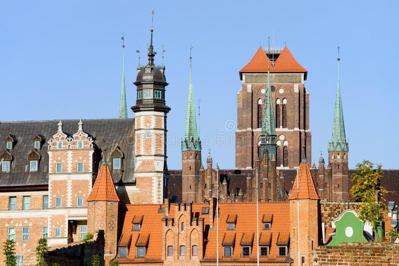Cidade velha de Gdansk em Poland fotografia de stock royalty free
