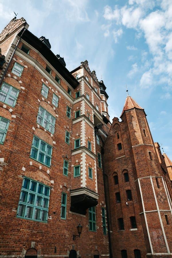 Cidade velha de Gdansk Pol?nia, Europa Fundo do curso imagens de stock royalty free