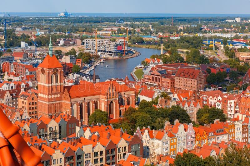 Cidade velha de Gdansk, Poland fotos de stock