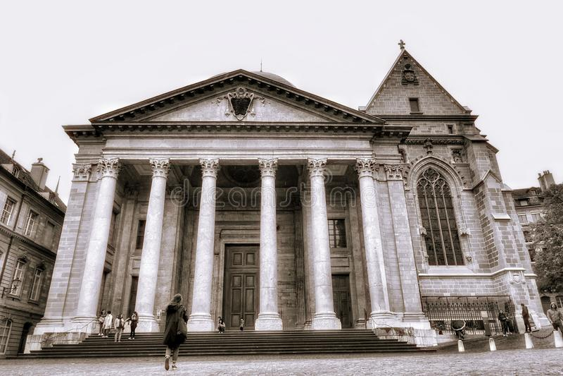 Cidade velha de Genebra foto de stock royalty free