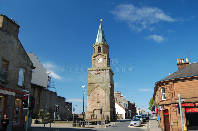 Cidade velha de Girvan, scotland imagem de stock royalty free