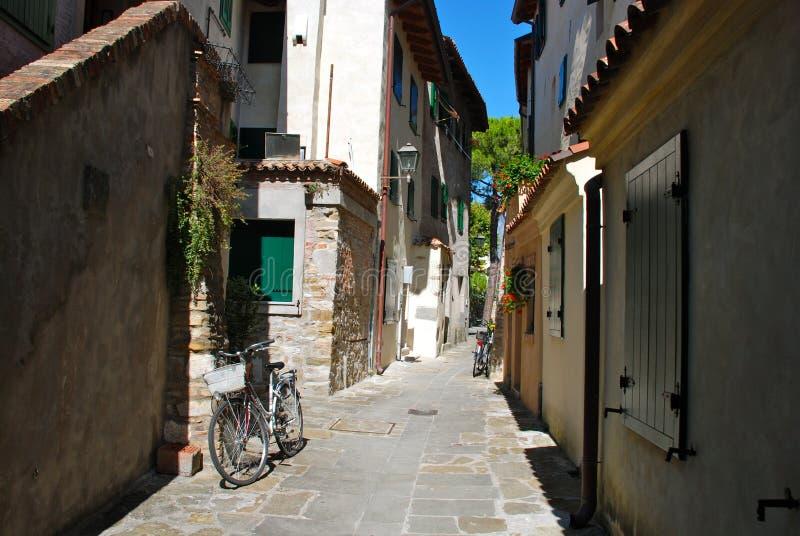 Cidade velha de Grado, Italy fotos de stock