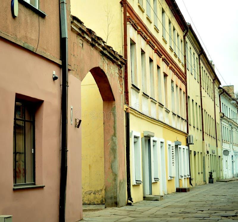 Cidade velha de Kaunas, Lituânia fotografia de stock royalty free