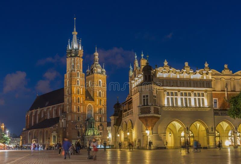 A cidade velha de Krakow, Polônia fotos de stock royalty free