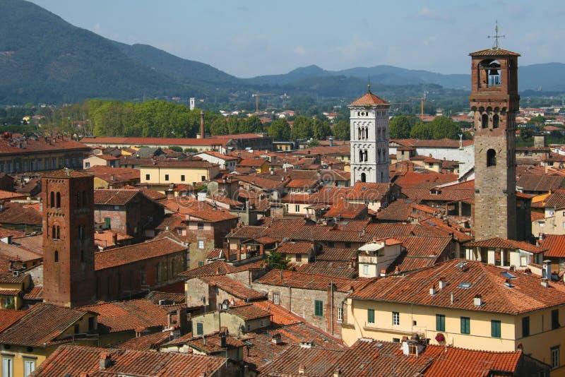 Cidade velha de Lucca foto de stock royalty free