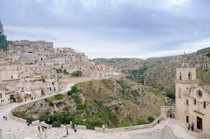 Cidade velha de Matera em Itália do sul imagem de stock royalty free