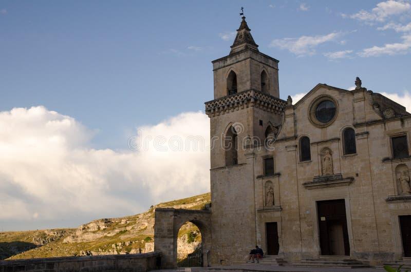 Cidade velha de Matera em Itália do sul imagem de stock