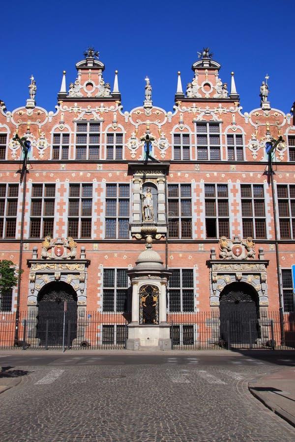 Cidade velha de Poland Gdansk - arsenal velho fotografia de stock royalty free