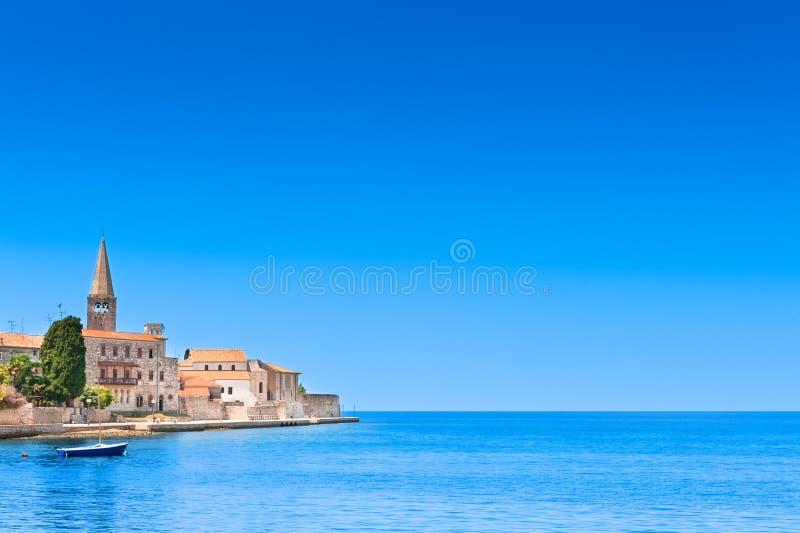 Cidade velha de Porec em Croatia, costa adriático fotos de stock royalty free