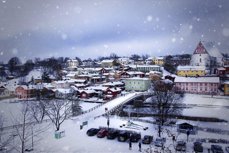 Cidade velha de Porvoo, Finlandia fotografia de stock