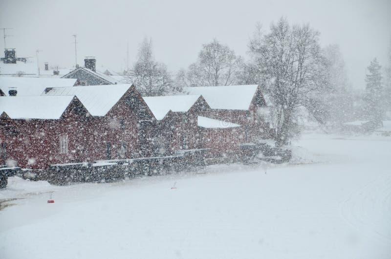 Cidade velha de Porvoo, Finlandia imagens de stock