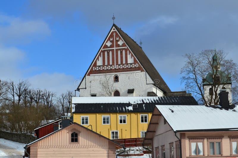 Cidade velha de Porvoo, Finlandia foto de stock