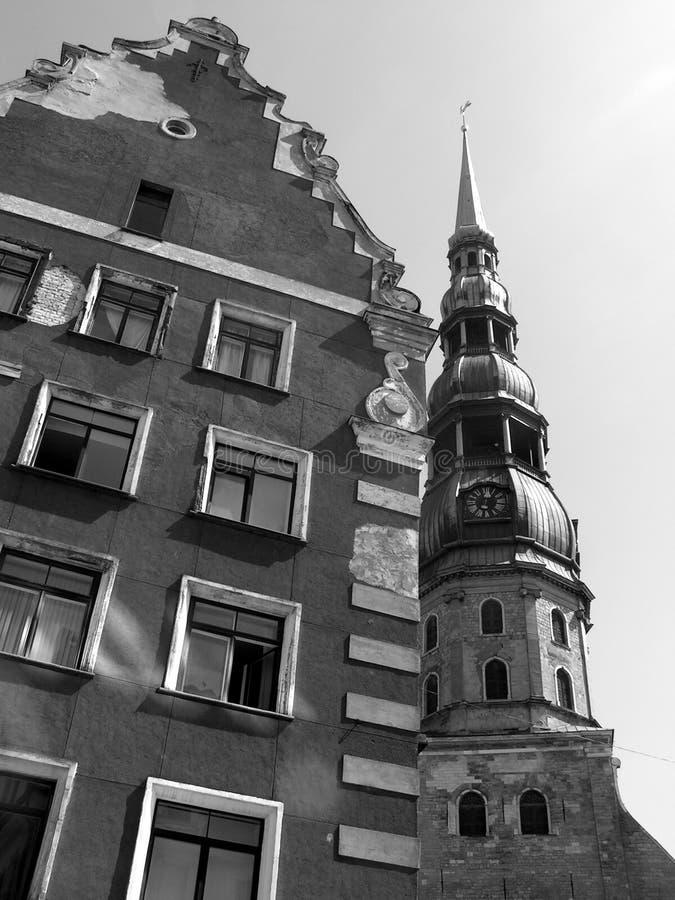Cidade velha de Riga, Latvia foto de stock