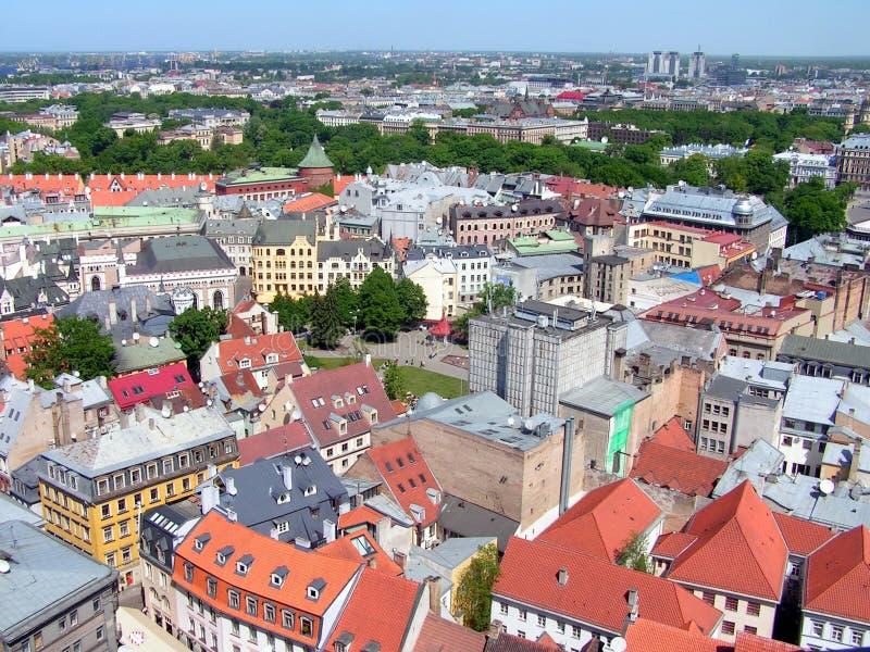 Cidade velha de Riga, Latvia foto de stock royalty free