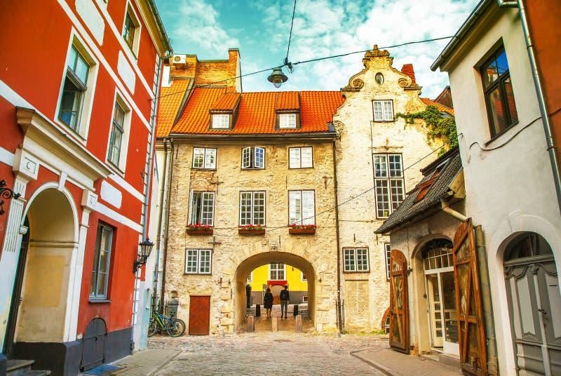 Cidade velha de Riga, Letónia fotografia de stock