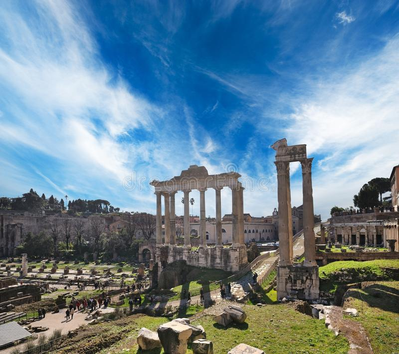 Cidade velha de Roma fotos de stock royalty free