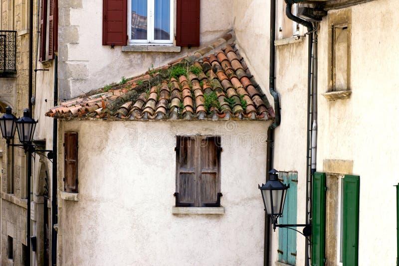 A cidade velha de São Marino fotografia de stock royalty free