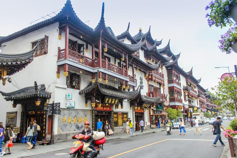 Cidade velha de Shanghai, jardins de Yuyuan foto de stock royalty free