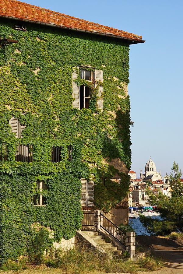 Cidade velha de Sibenik, Croatia imagem de stock