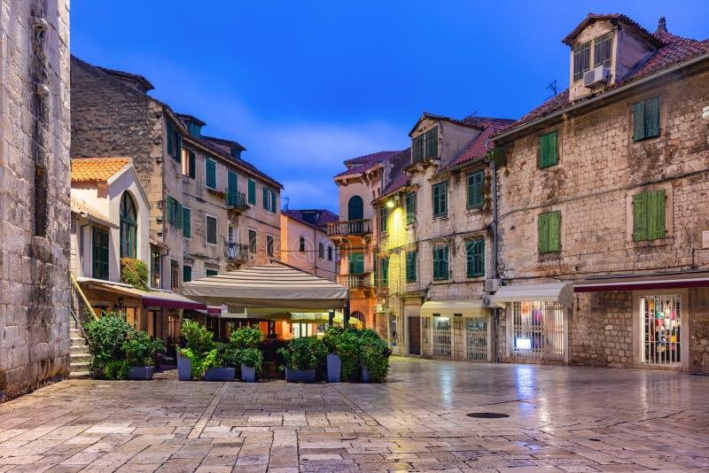 Cidade Velha de Split, Croácia foto de stock
