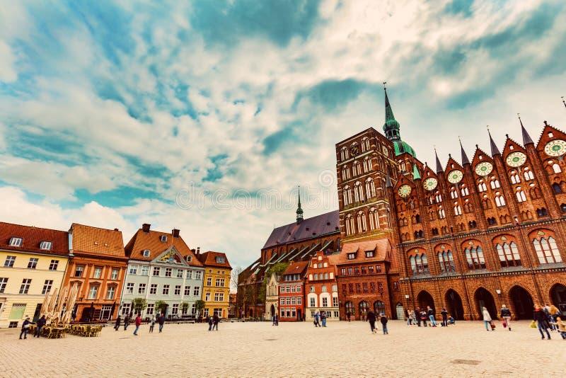 Cidade velha de Stralsund, Alemanha fotos de stock royalty free