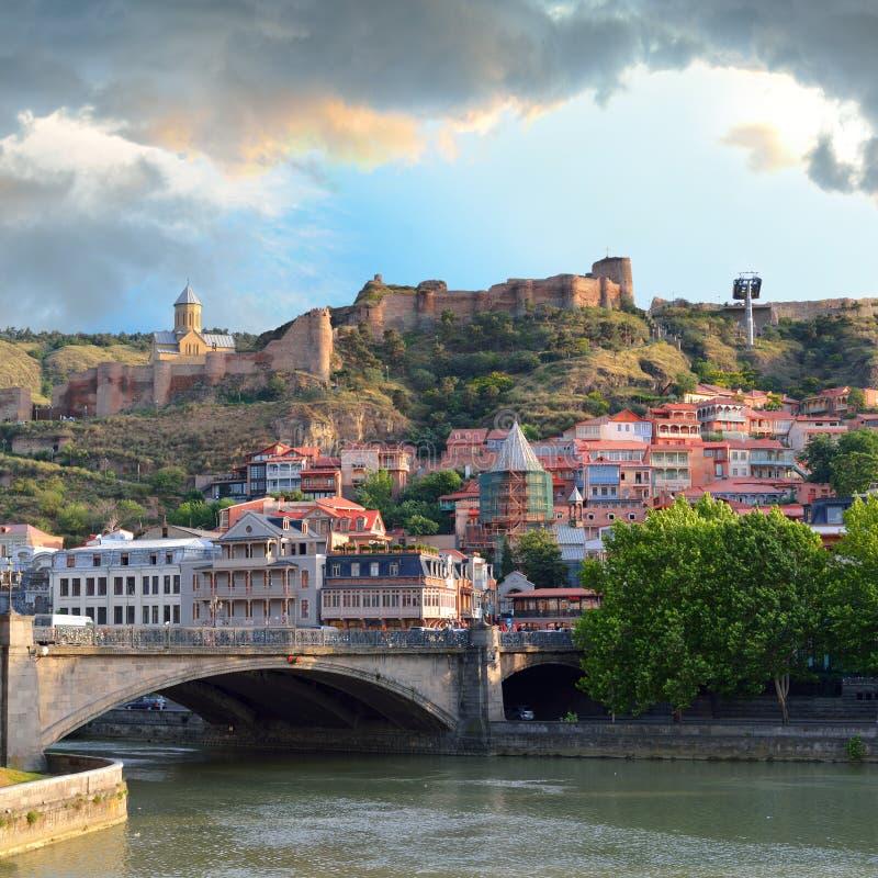 Cidade velha de Tbilisi imagem de stock