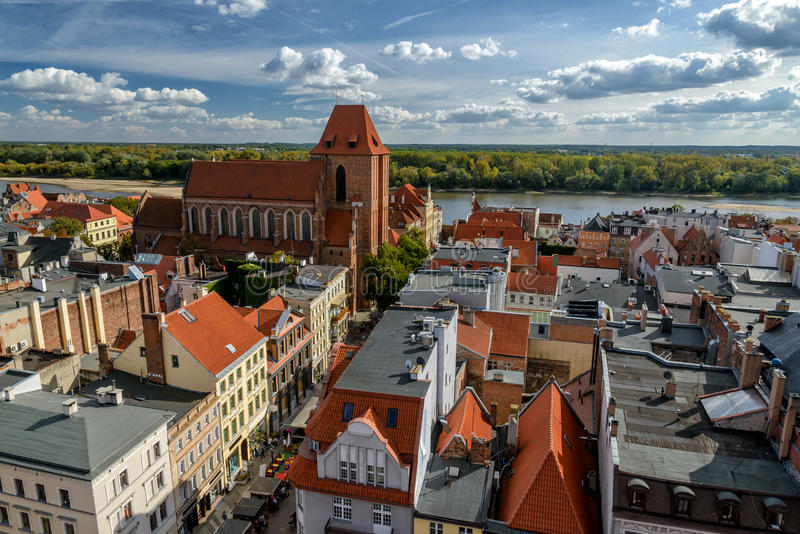 Cidade velha de Torun fotografia de stock