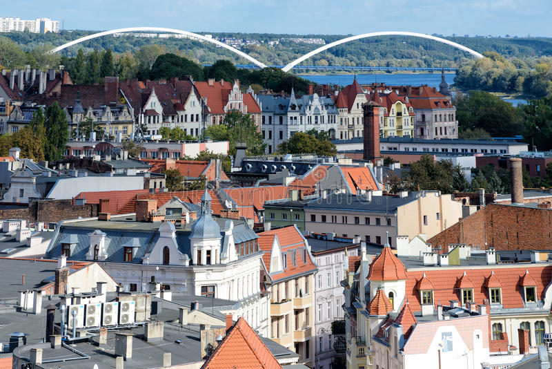 Cidade velha de Torun fotos de stock royalty free