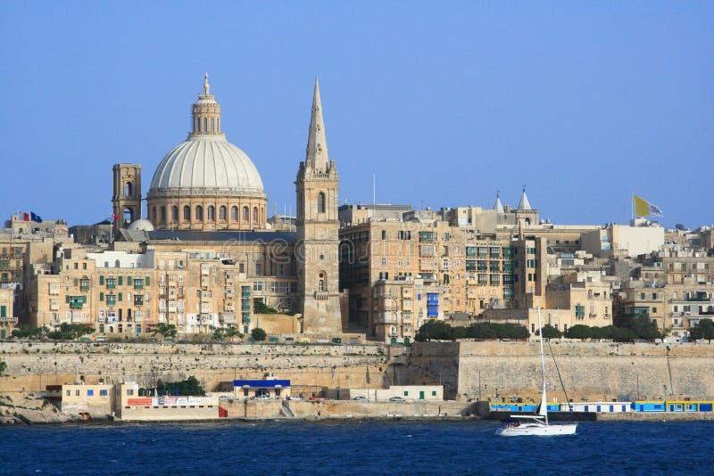 Cidade velha de Valletta, Malta foto de stock royalty free