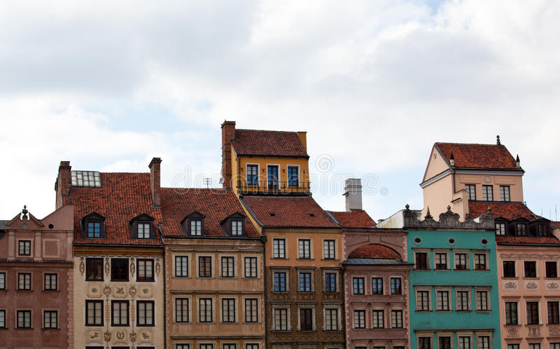 Cidade velha de Varsóvia fotografia de stock