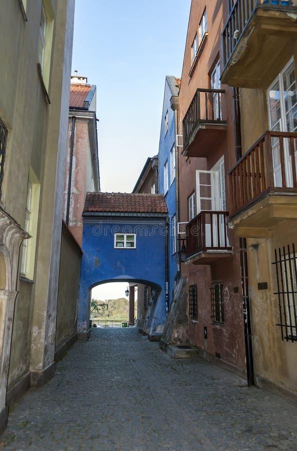 Cidade velha de Varsóvia foto de stock