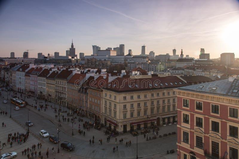 Cidade velha de Varsóvia imagens de stock