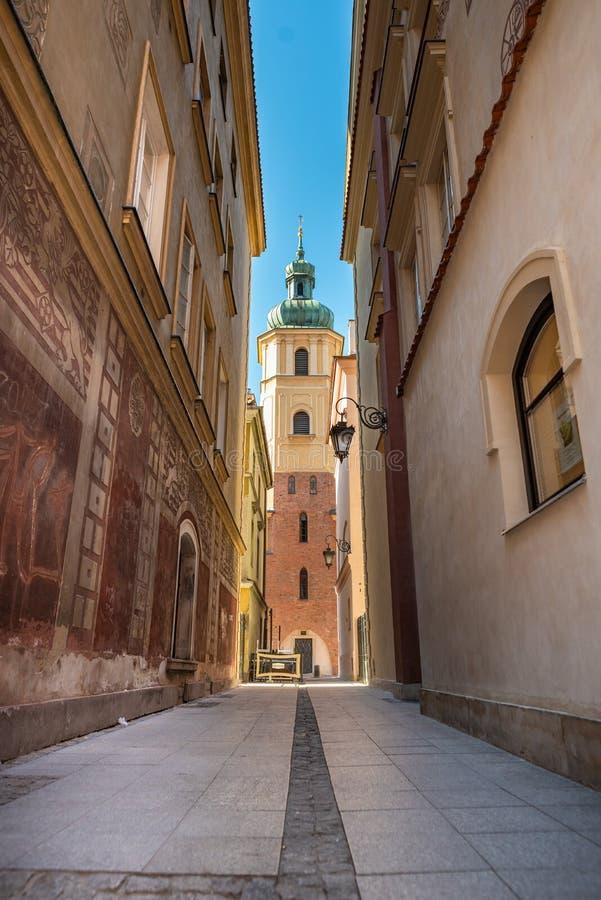 Cidade velha de Varsóvia no Polônia Arquitetura local foto de stock