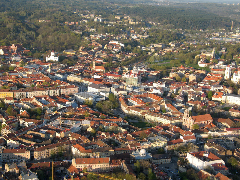 Cidade velha de Vilnius (Lithuania) imagens de stock