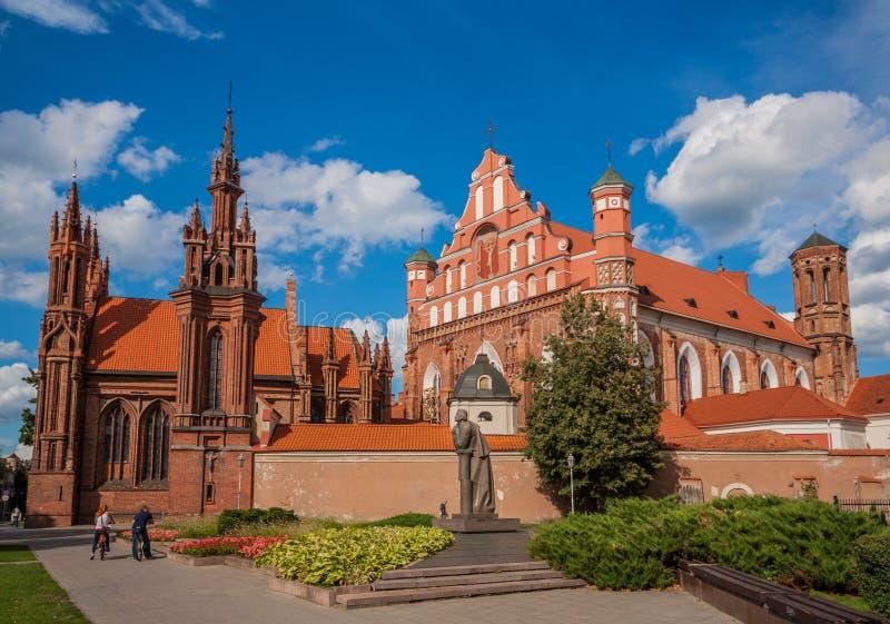 A cidade velha de Vilnius, Lituânia imagens de stock