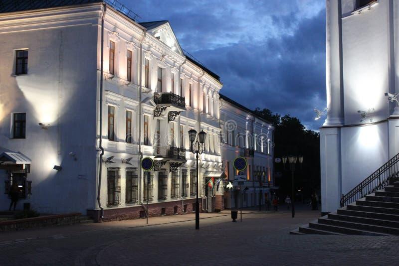 Cidade velha de Vitebsk da noite fotografia de stock royalty free