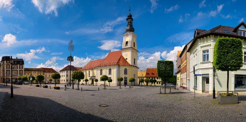 Cidade velha do mercado de Meueslwitz fotografia de stock